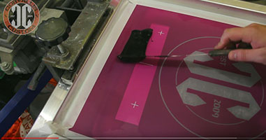 Behind the scenes screen printing with Corvallis Custom - Press setup and alignment.