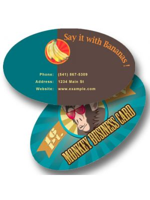 Oval Paper Business Card