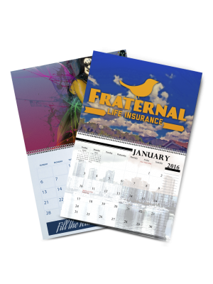 8.5 X 11 Saddle Stitch Calendars