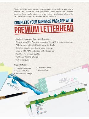 Letter Heads | 8.5 X 11 Premium Opaque - Digital Printing