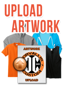 Corvallis Custom image Upload for apparel