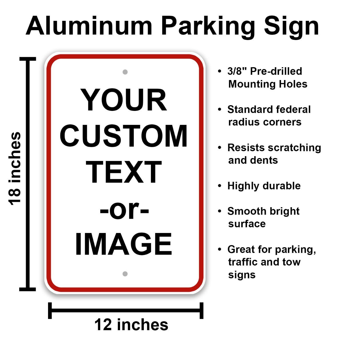 parking sign specs